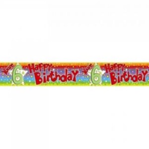 BIRTHDAY YOUR 6 FOIL BANNER