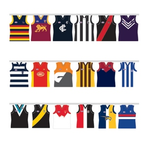 Afl All Team Party Bunting Guernsey Shape